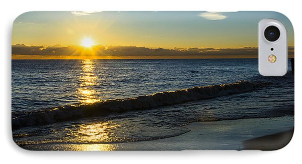 Sunrise Lake Michigan September 14th 2013 040 IPhone Case by Michael  Bennett