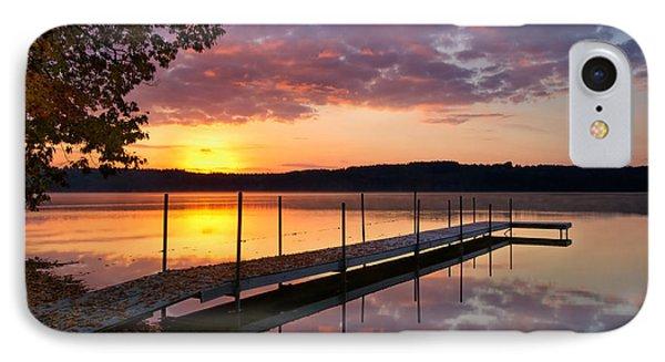 Sunrise On Keoka Lake IPhone Case by Darylann Leonard Photography