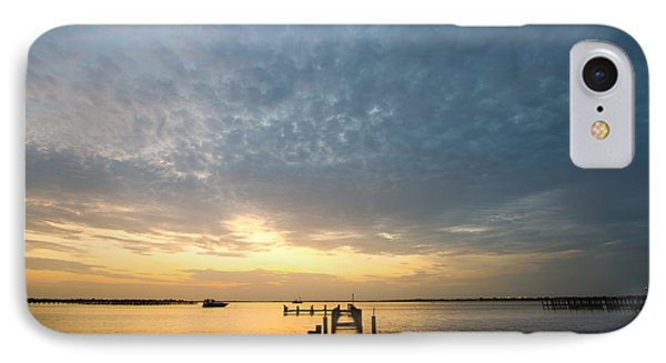 Sunset At A Weathered Pier At Port Charlotte Harbor Near Punta  Phone Case by Fizzy Image