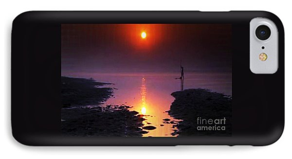 Sunset At Ganga River In The Planes Of Provinces IPhone Case by Navin Joshi
