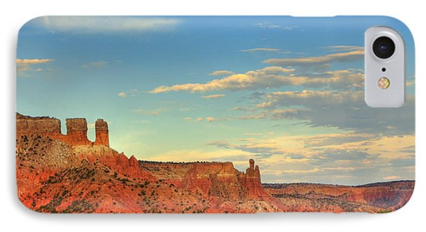 IPhone Case featuring the photograph Sunset At Ghost Ranch by Alan Vance Ley