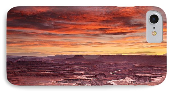 Sunset At The Green River Overlook IPhone Case