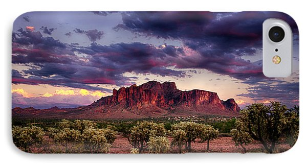 Sunset At The Superstitions  IPhone Case by Saija  Lehtonen