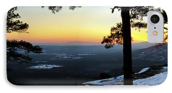 Sunset Atop Snowy Mt. Nebo IPhone Case by Jason Politte