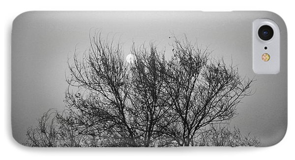 Sunset In Black And White IPhone Case by Mohamed Elkhamisy