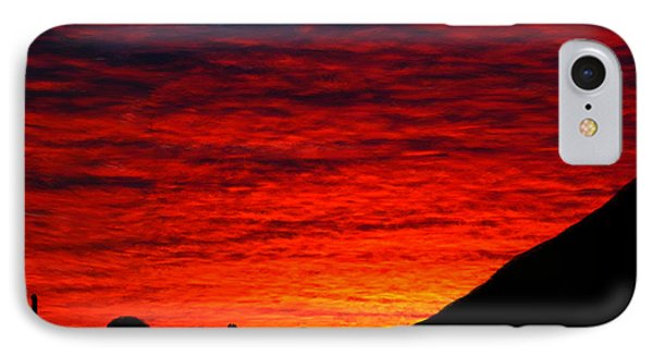 Sunset In The Desert IPhone Case by Bruce Nutting