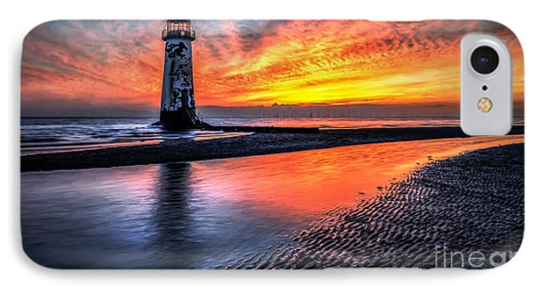 Sunset Lighthouse IPhone Case by Adrian Evans