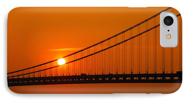 Verrazano Sunset IPhone Case by Mitch Cat