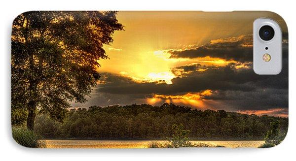 Sunset Golf Hole Lake Oconee IPhone Case by Reid Callaway