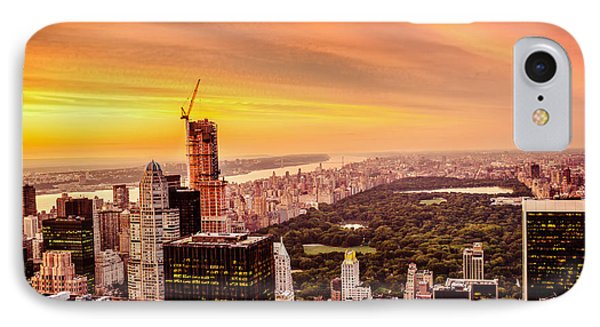 Sunset Over Central Park And The New York City Skyline Phone Case by Vivienne Gucwa