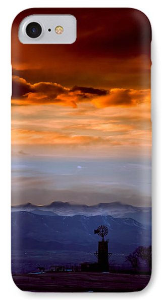 IPhone Case featuring the photograph Sunset Over The Rockies by Kristal Kraft