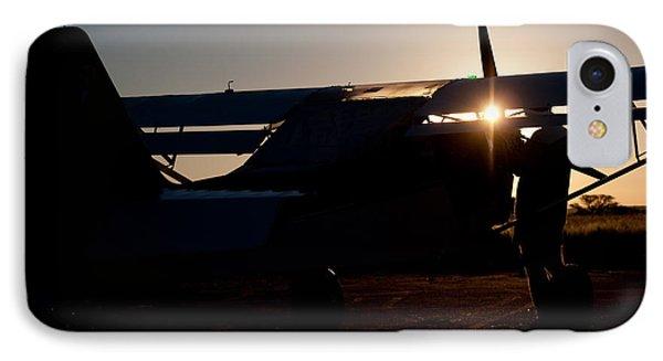 Sunset Plane Phone Case by Paul Job