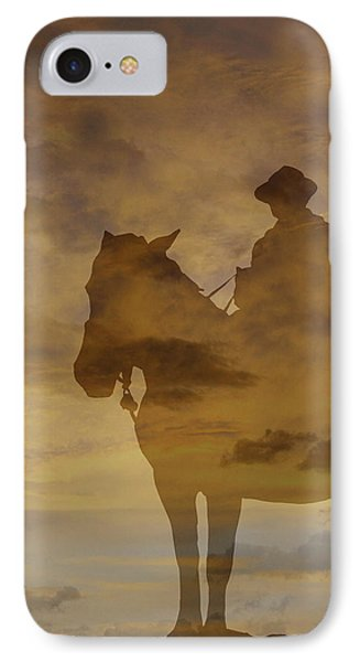 Sunset Rider IPhone Case by Randy Steele