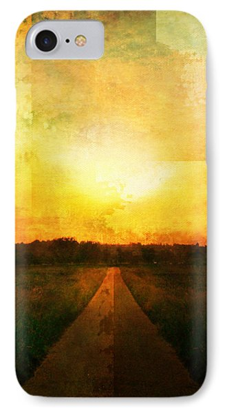 Sunset Road Phone Case by Brett Pfister