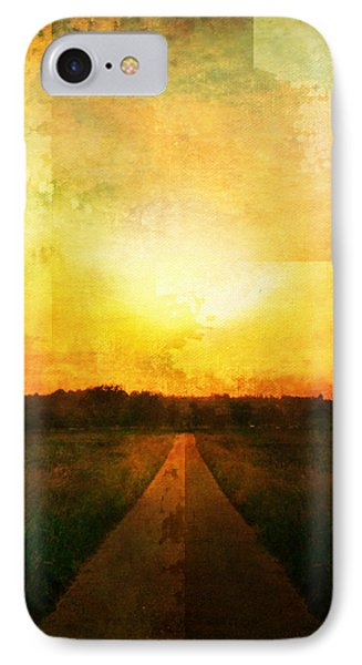 Sunset Road IPhone Case by Brett Pfister