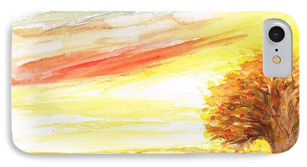 IPhone Case featuring the painting Sunset by Teresa White