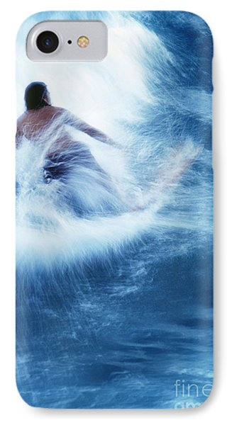 Surfer Carving On Splashing Wave, Interesting Perspective And Blur IPhone Case