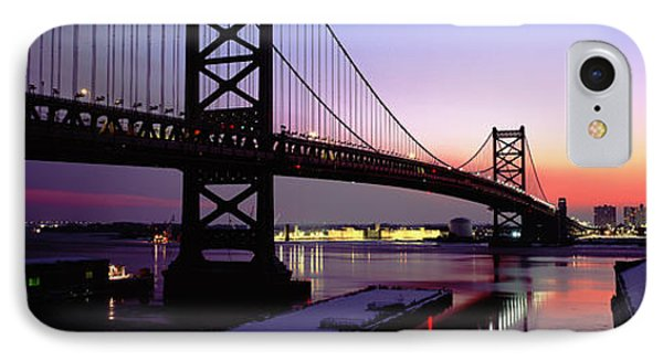 Suspension Bridge Across A River, Ben IPhone Case