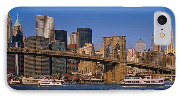 Suspension Bridge Across A River IPhone Case by Panoramic Images