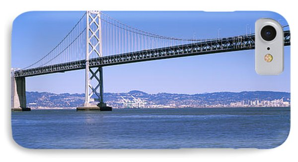 Suspension Bridge Across The Bay, Bay IPhone Case by Panoramic Images