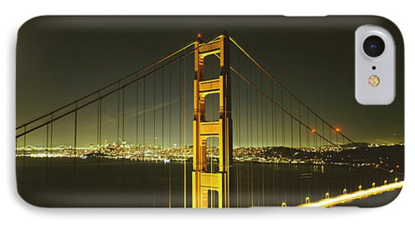 Suspension Bridge Across The Sea IPhone Case by Panoramic Images