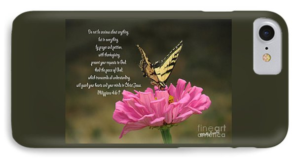 Swallowtail On A Zinnia IPhone Case by Debby Pueschel