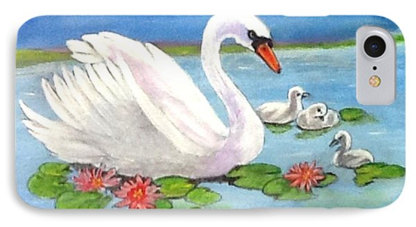 Swan IPhone Case by Catherine Swerediuk