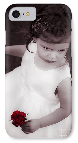 Sweet Little Rose Girl IPhone Case by Jorgo Photography - Wall Art Gallery