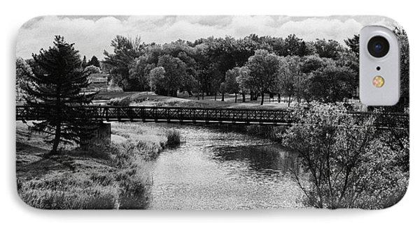 swift current creek Saskatchewan Canada IPhone Case by Joe Fox