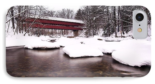 Swift River Bridge IPhone Case by Eric Gendron