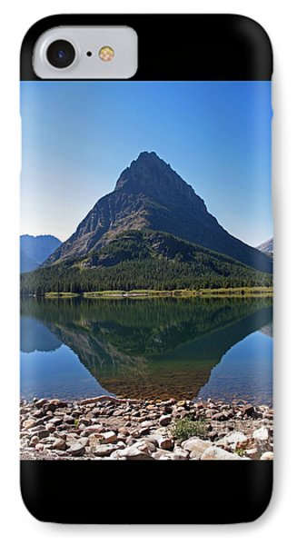 IPhone Case featuring the photograph Swiftcurrent  Lake Many Glacier by Joseph J Stevens