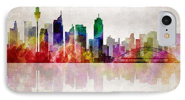 Sydney Australia Skyline IPhone Case by Daniel Hagerman