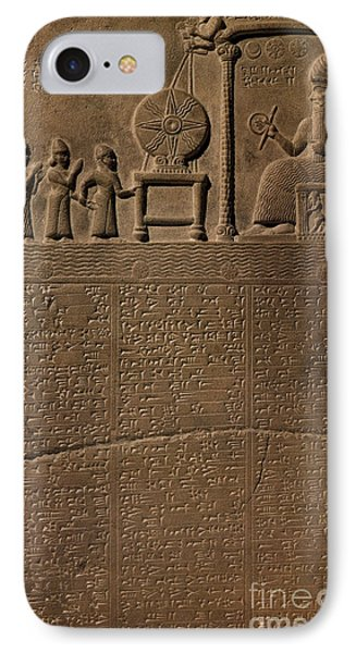 Tablet Of Shamash, 9th Century Bc IPhone Case by Science Source