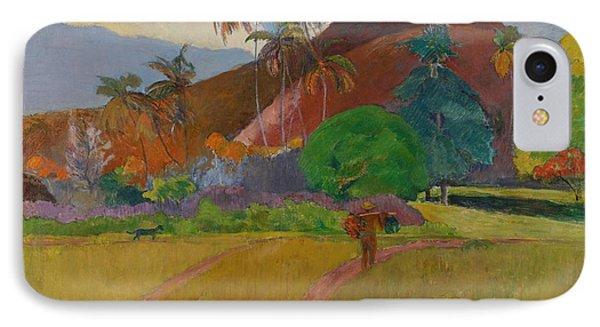 Tahitian Landscape Phone Case by Paul Gauguin