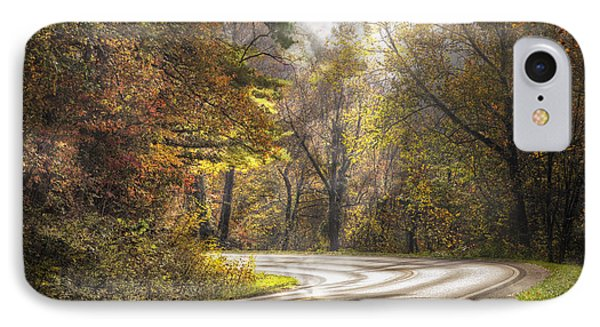 Take The Back Roads IPhone Case by Debra and Dave Vanderlaan
