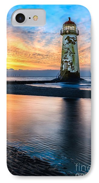 Talacre Lighthouse Sunset IPhone Case by Adrian Evans