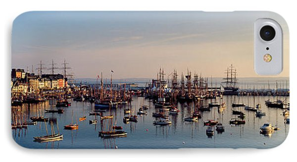 Tall Ships At A Harbor At Sunrise IPhone Case