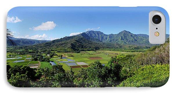 Taro Field, Hanalei Valley, Lookout IPhone Case by Douglas Peebles