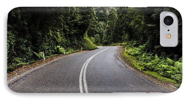 Tasmania West Coast Hinterland Road Landscape IPhone Case