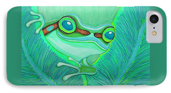 Teal Frog IPhone Case