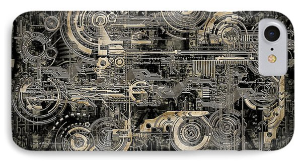 Technically Electronic Background IPhone Case