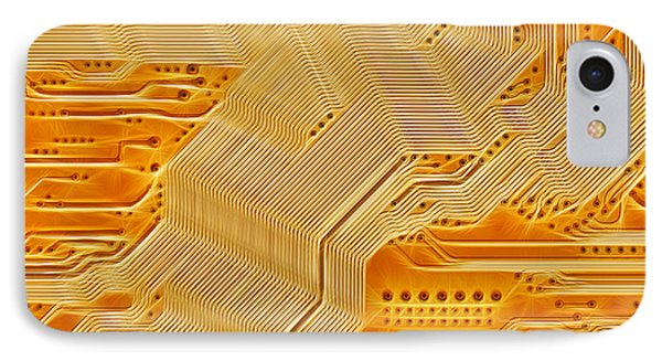Technology Abstract Background Phone Case by Michal Boubin