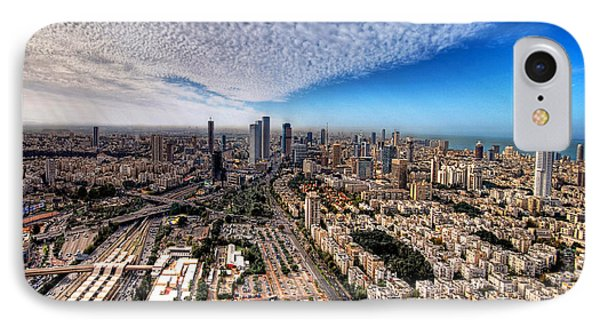 Tel Aviv Skyline Phone Case by Ron Shoshani