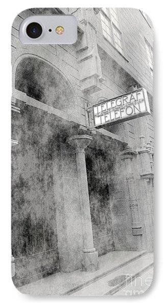 Telegraf Building In Foggy Oslo Phone Case by Sophie Vigneault