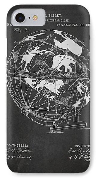 Terrestro Sidereal Globe Patent Drawing From 1886 IPhone Case