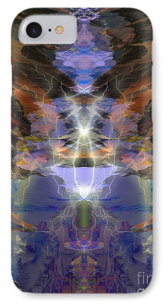 IPhone Case featuring the digital art Tesla's Coil by Ursula Freer
