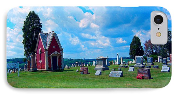 IPhone Case featuring the photograph Fryburg Cemetery by Gena Weiser