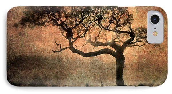 Textured Tree In The Mist Phone Case by Ray Pritchard