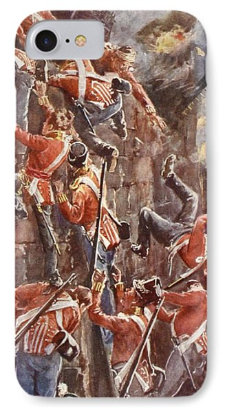 The 5th Division Storming By Escalade Phone Case by William Barnes Wollen