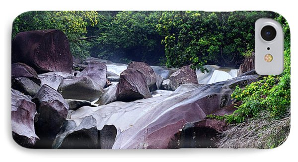 Far North Queensland iPhone 7 Case - The Babinda Boulders Is A Fast-flowing by Paul Dymond